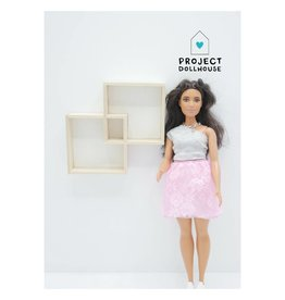 Project Dollhouse Wandmeubel twee vakken Barbie