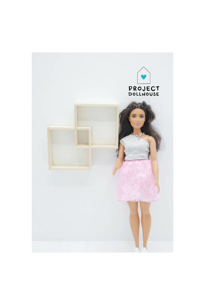 Wall Cabinet Two Squares Barbie