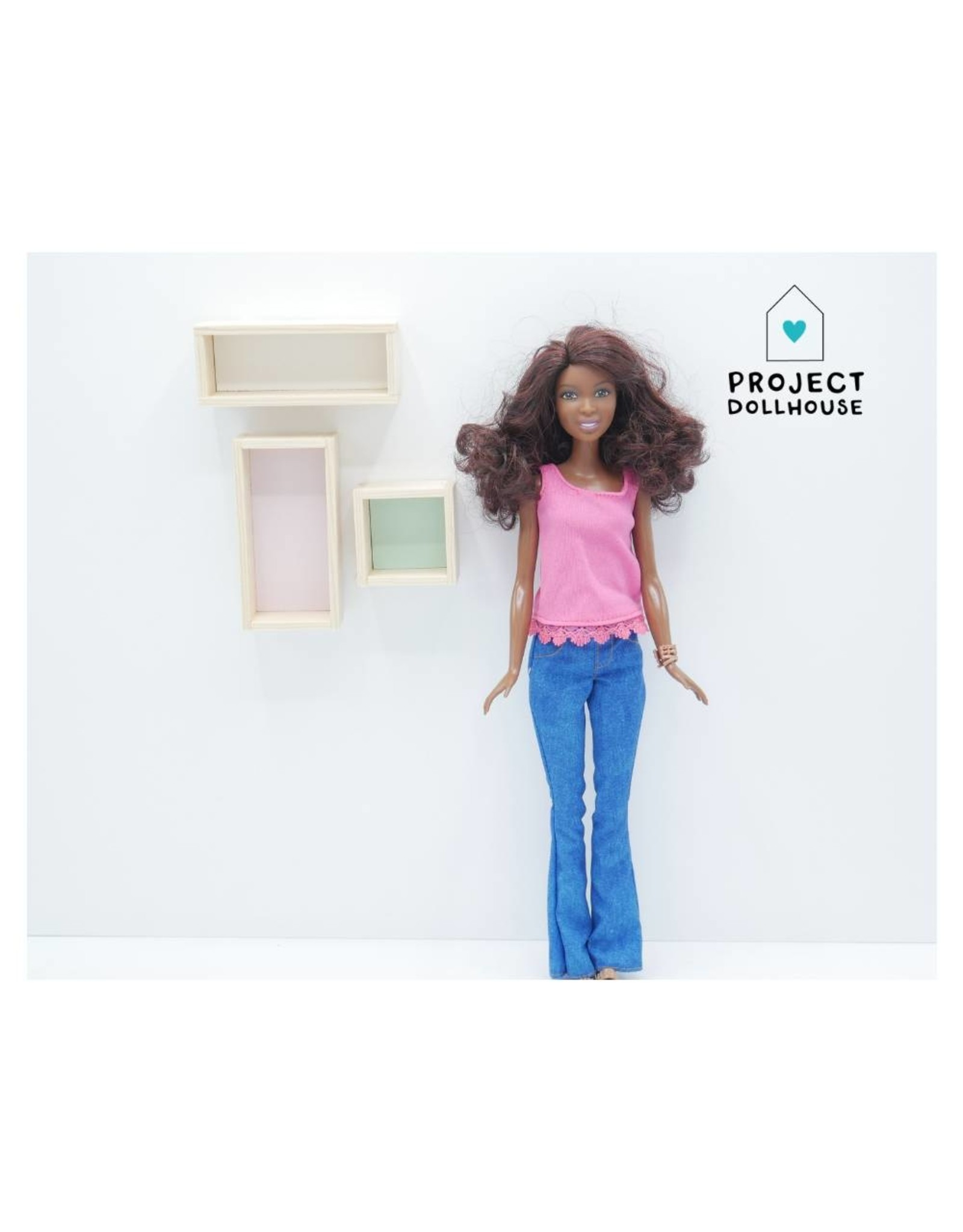 Project Dollhouse Wall Cabinets Barbie