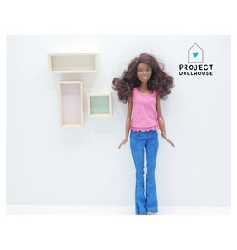 Project Dollhouse Wandkastjes Set Barbie