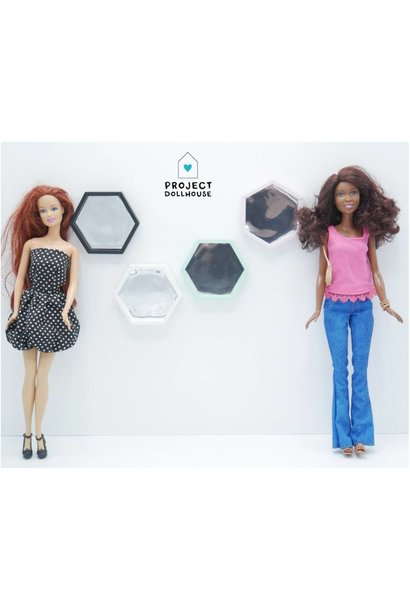Hexagon Spiegel Barbie