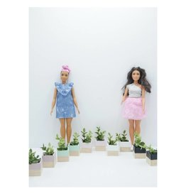 Project Dollhouse Plantenbakken set van 2 Barbie