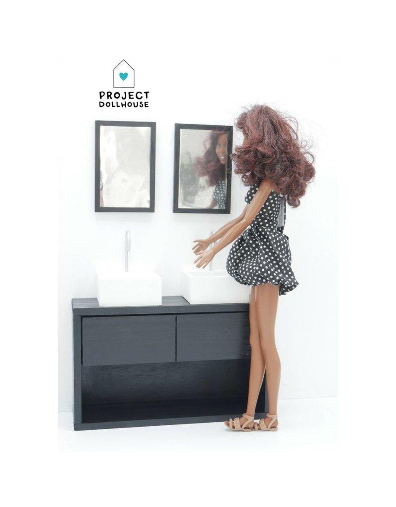 Project Dollhouse Badkamer Zwart Barbie