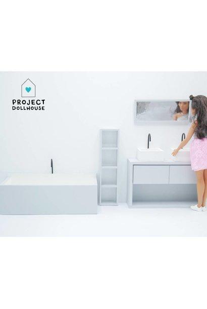 Badkamer Grijs Barbie