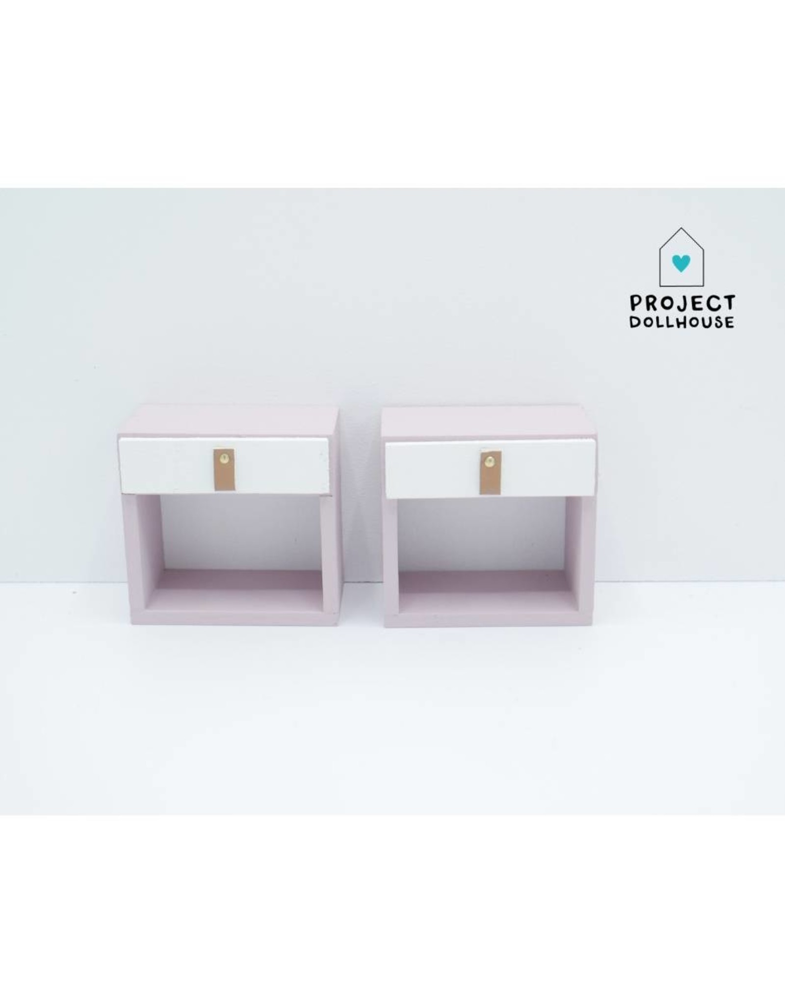 Project Dollhouse Bedside  Tables Old Pink Barbie