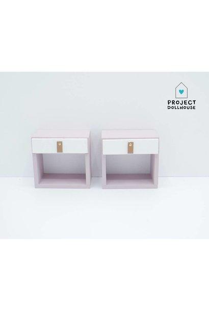 Bedside  Tables Old Pink Barbie