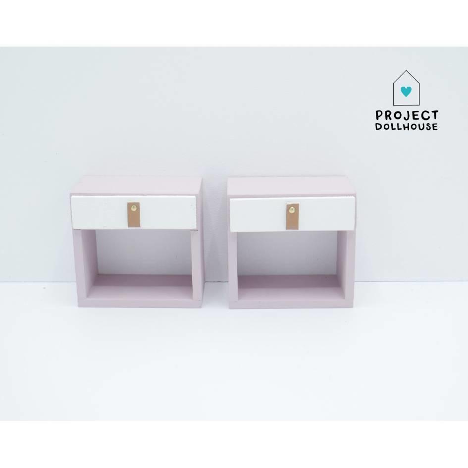 Nachtkastjes Oud Roze Barbie-1