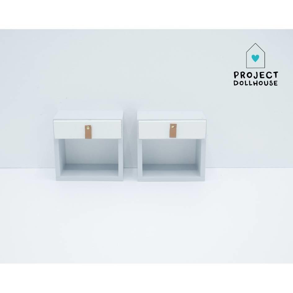 Bedside Tables White Barbie-1