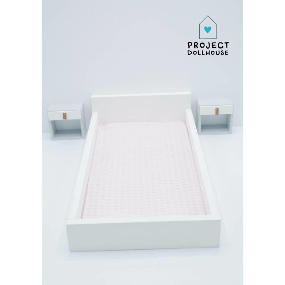 Bedside Tables White Barbie-2