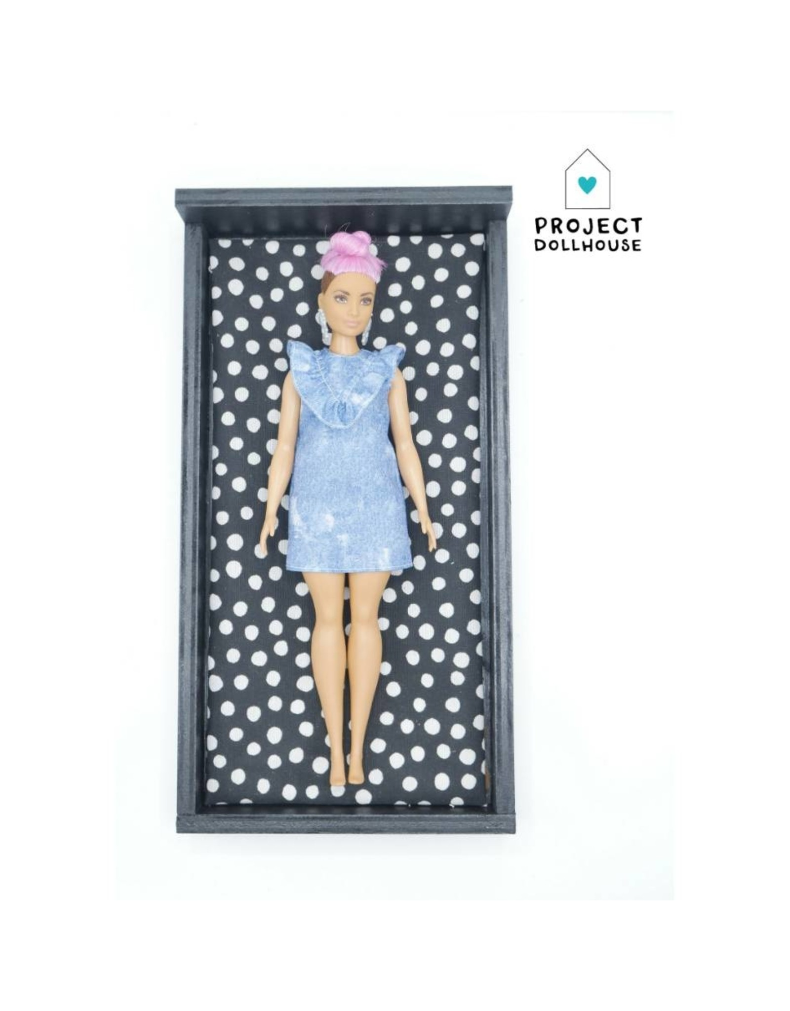 Project Dollhouse Bed Black Barbie