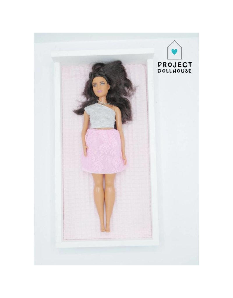 Project Dollhouse Bed White Barbie