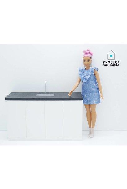 Barbie Kitchen Black Countertop