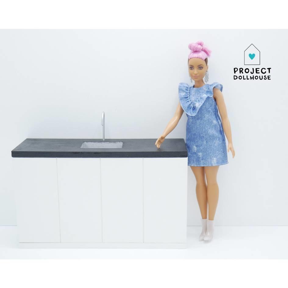 Barbie Keuken Zwart Aanrecht-1