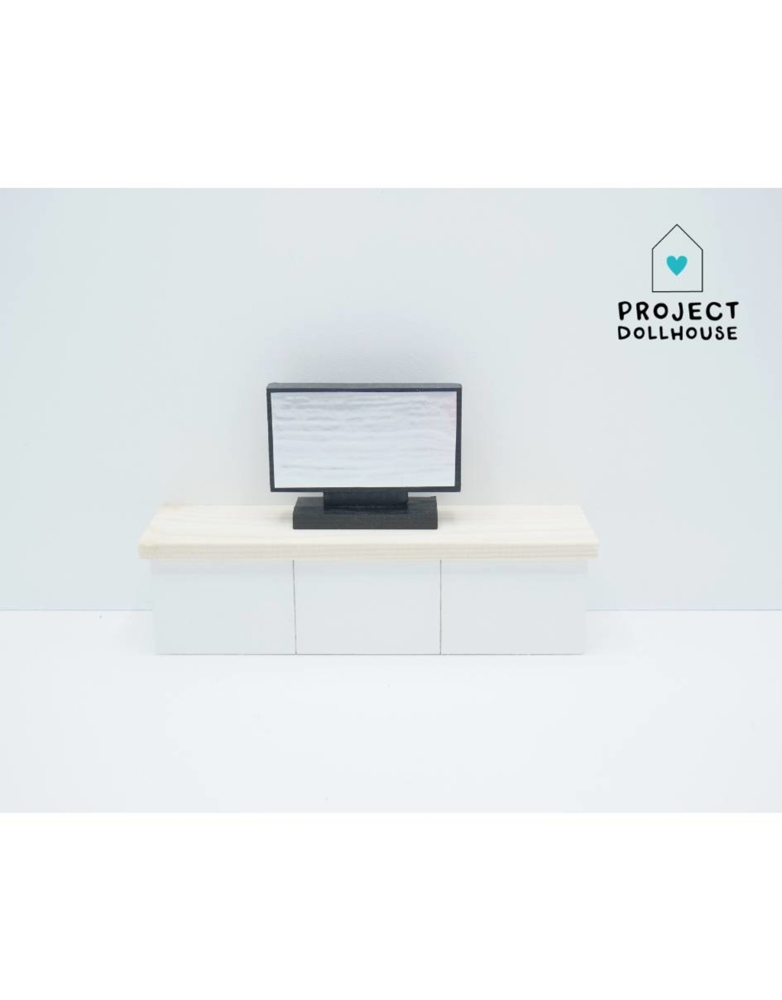 Project Dollhouse Barbie TV Furniture White