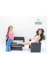 Project Dollhouse Barbie Lounge Black