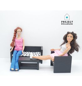 Project Dollhouse Barbie Zitkamer Zwart