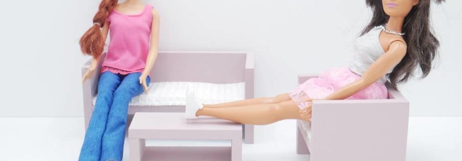 Barbie Zitkamer Oud Roze
