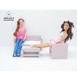 Project Dollhouse Barbie Lounge Old Pink