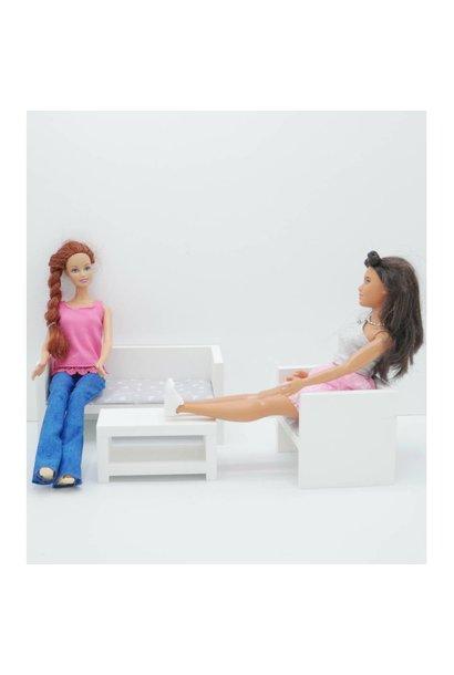Barbie Zitkamer Wit