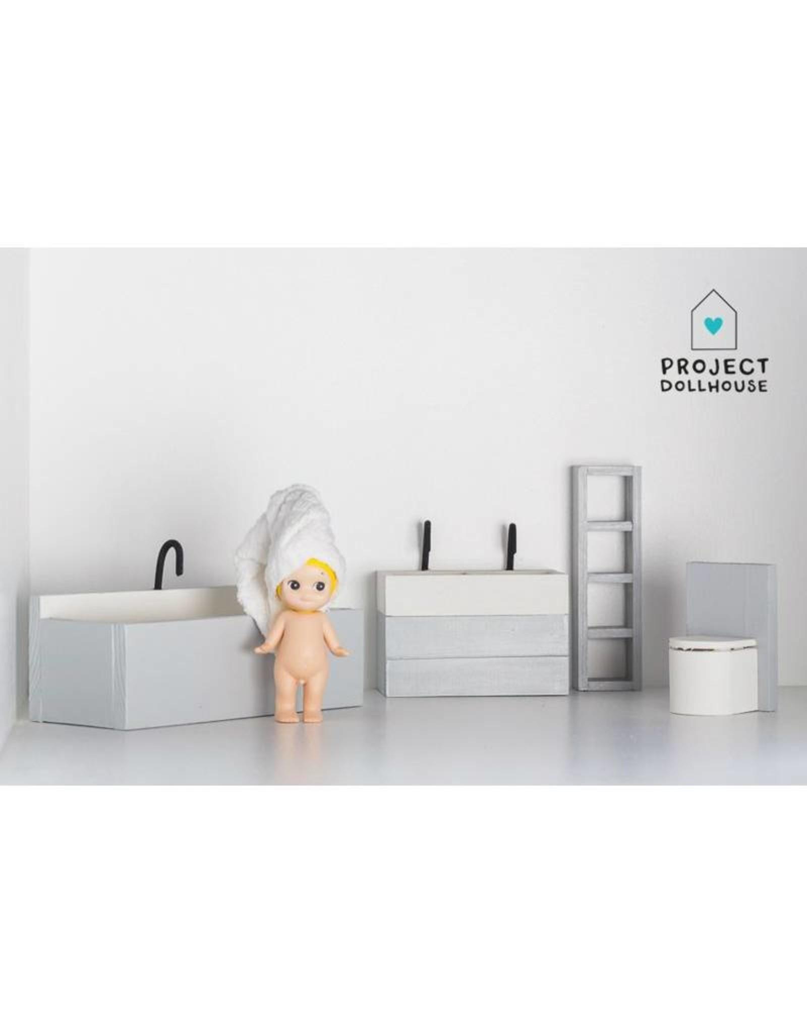 Project Dollhouse Badkamer Grijs
