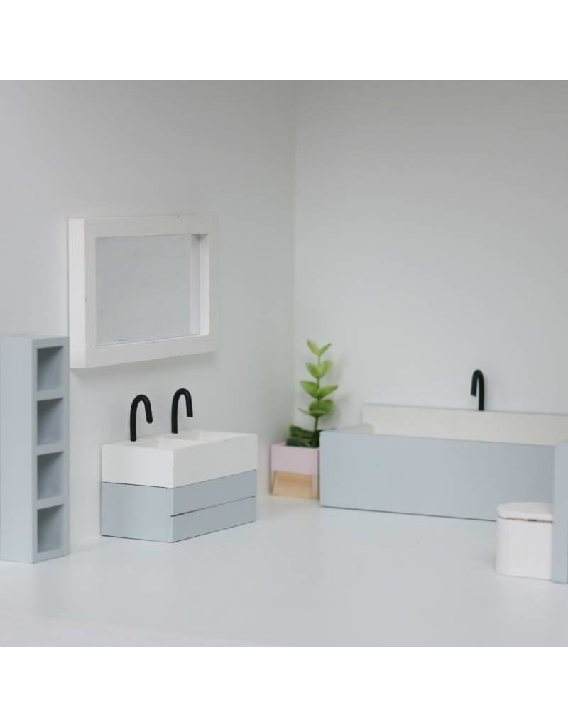 Project Dollhouse Bathroom Grey