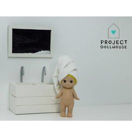 Project Dollhouse Bathroom mirror white