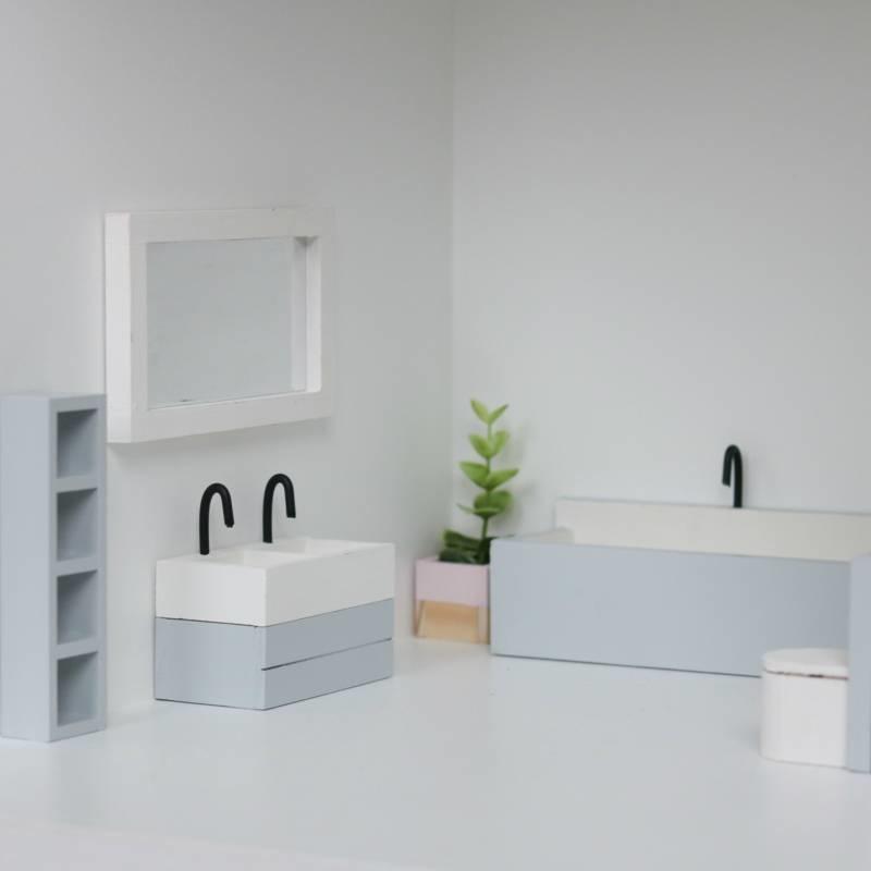 Bathroom mirror white-2