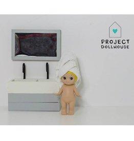 Project Dollhouse Badkamer Spiegel Grijs