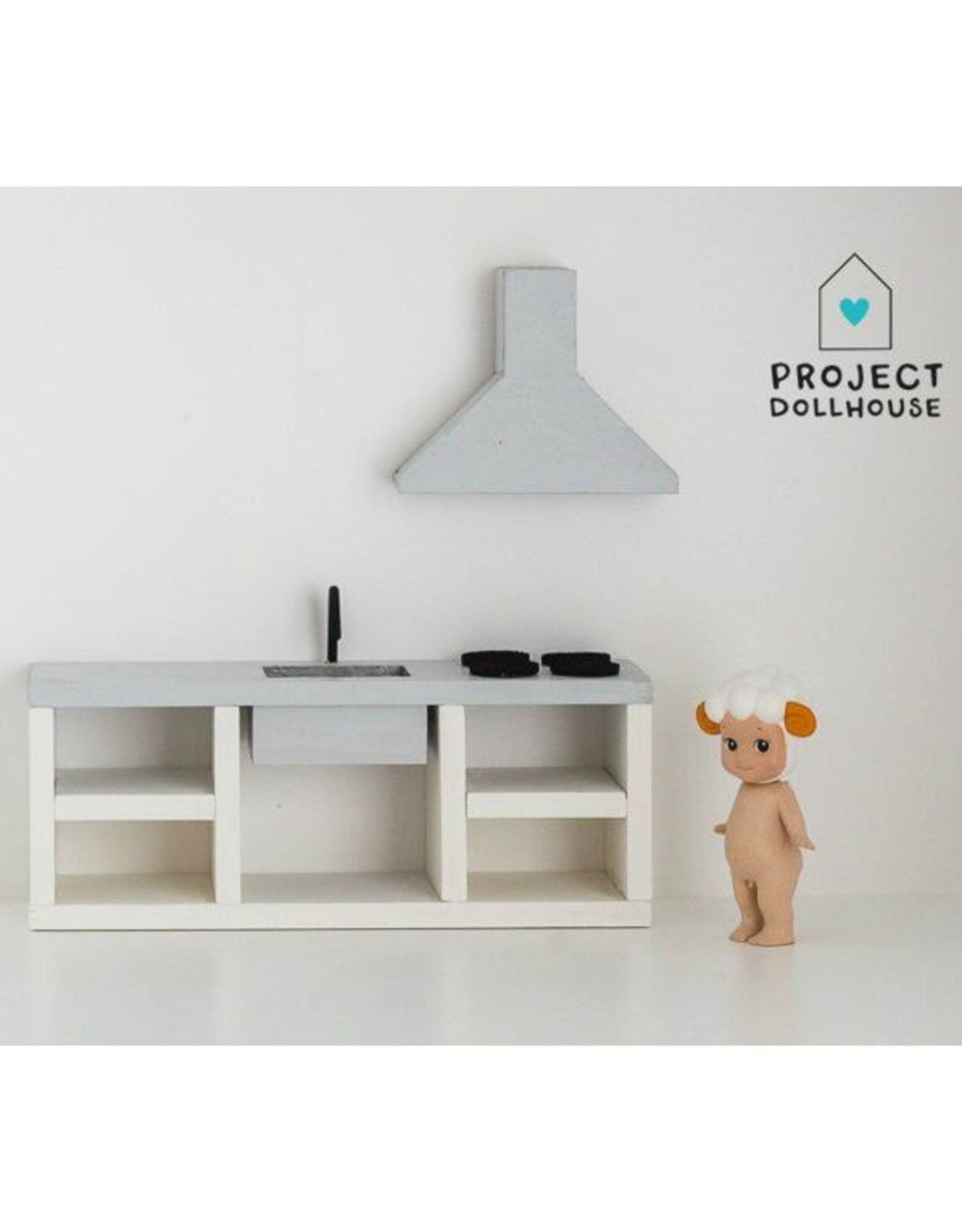 Project Dollhouse Kitchen Grey