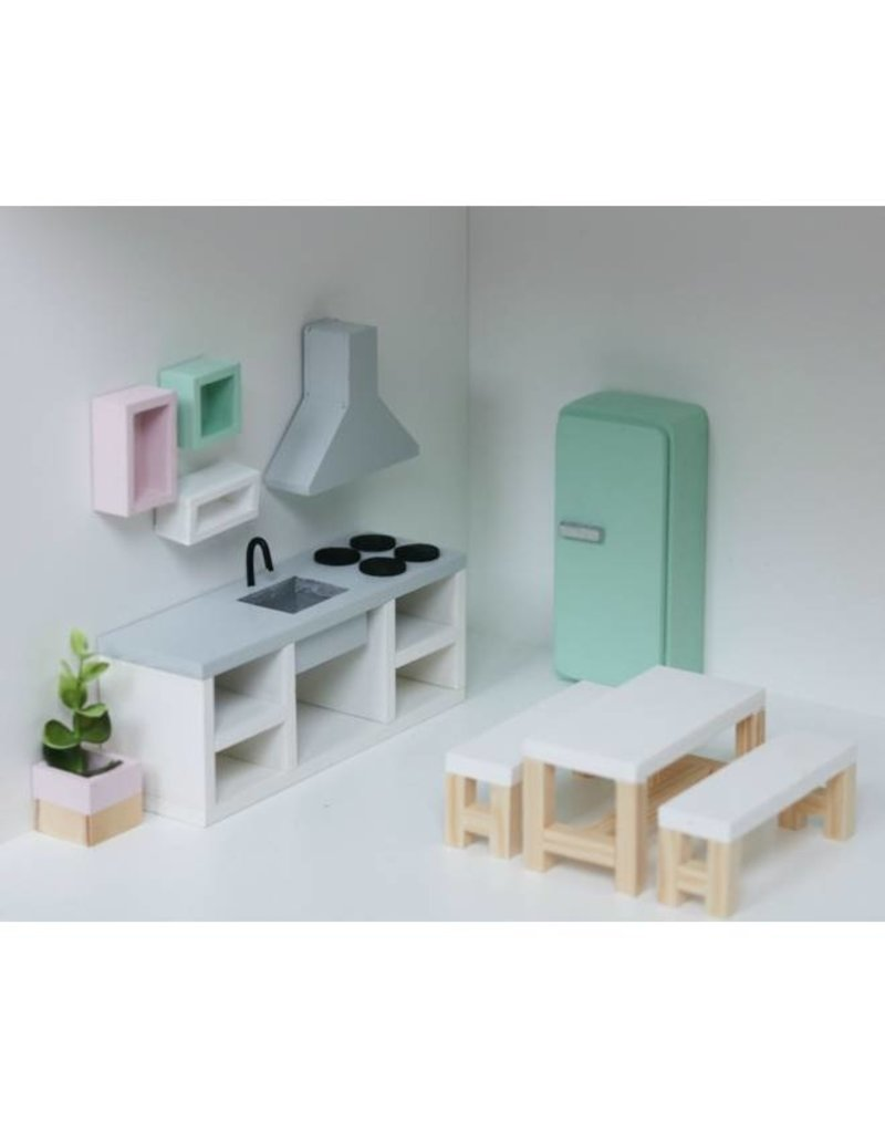 Project Dollhouse Keuken Betonlook