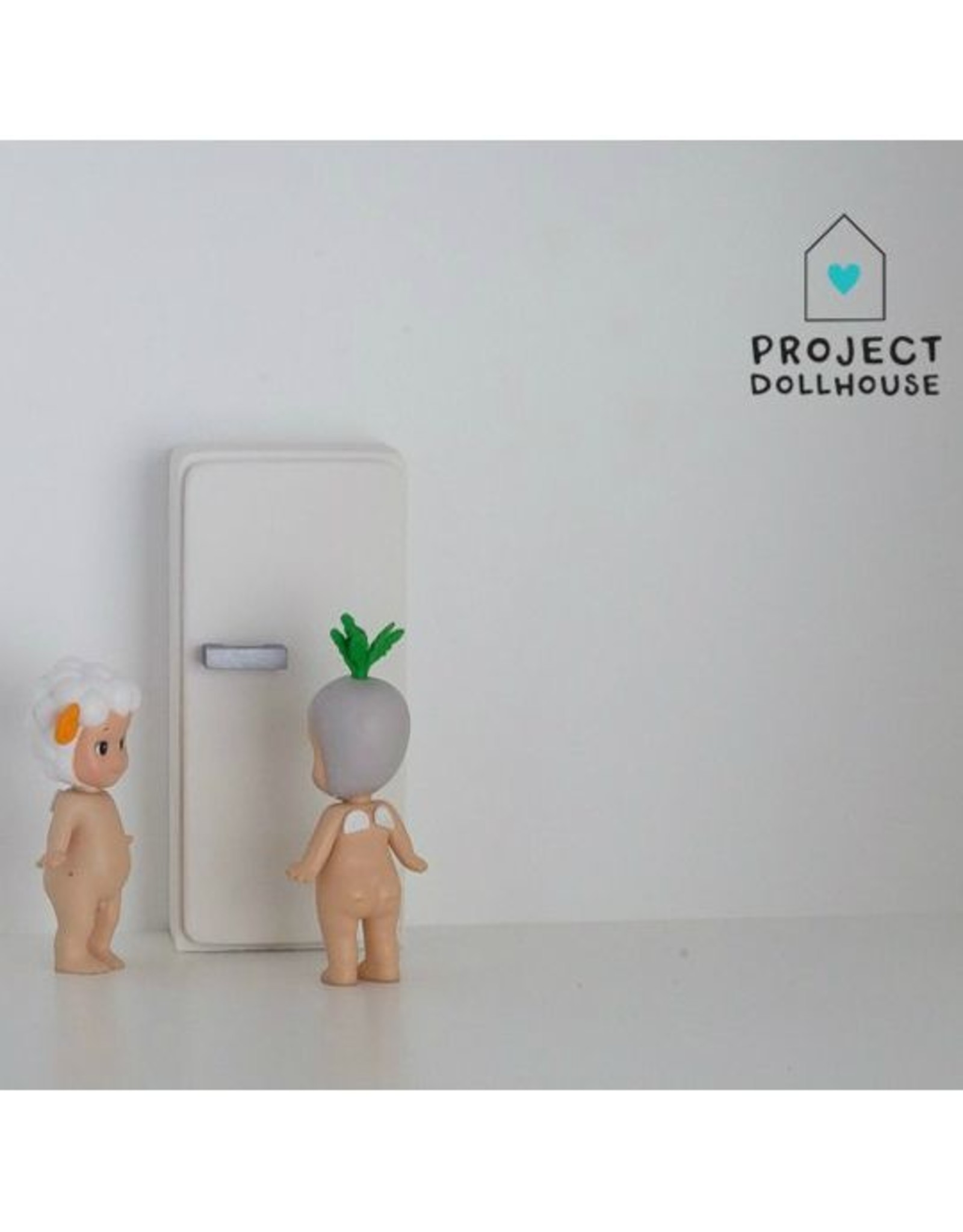 Project Dollhouse Refrigerator White