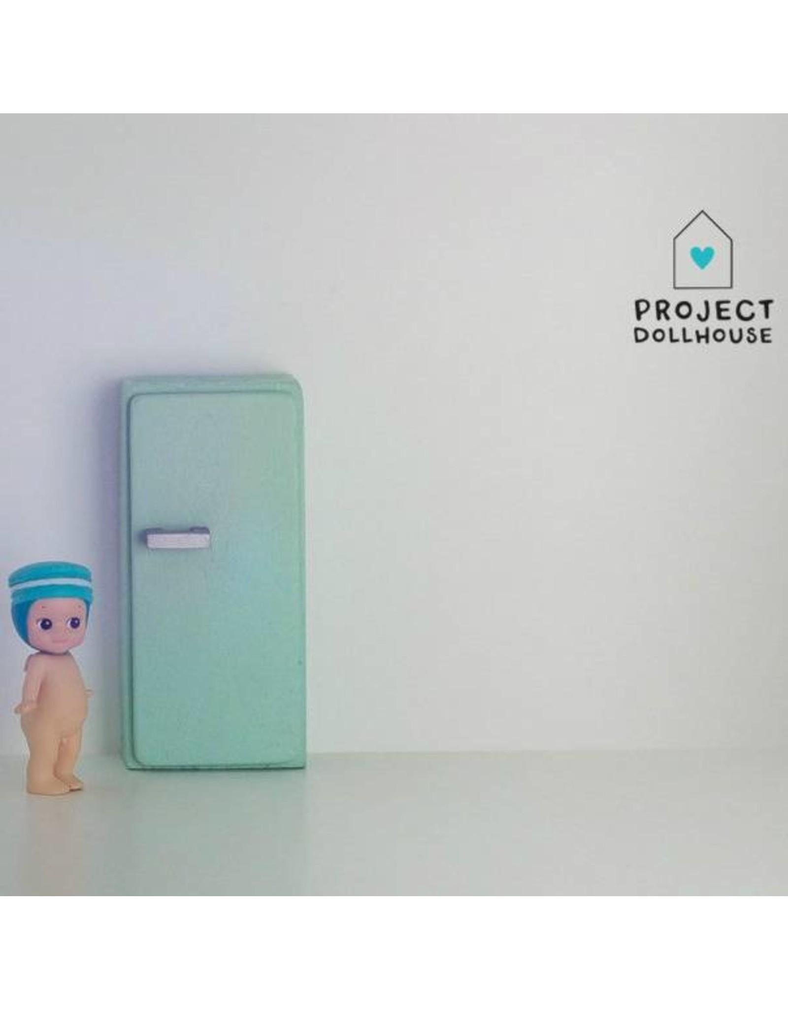 Project Dollhouse Refrigerator Mintgreen