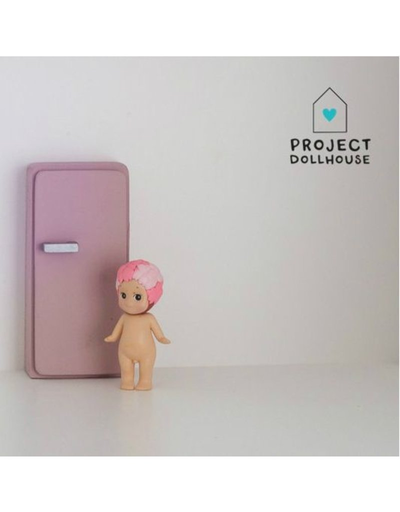 Project Dollhouse Refrigerator Old Pink