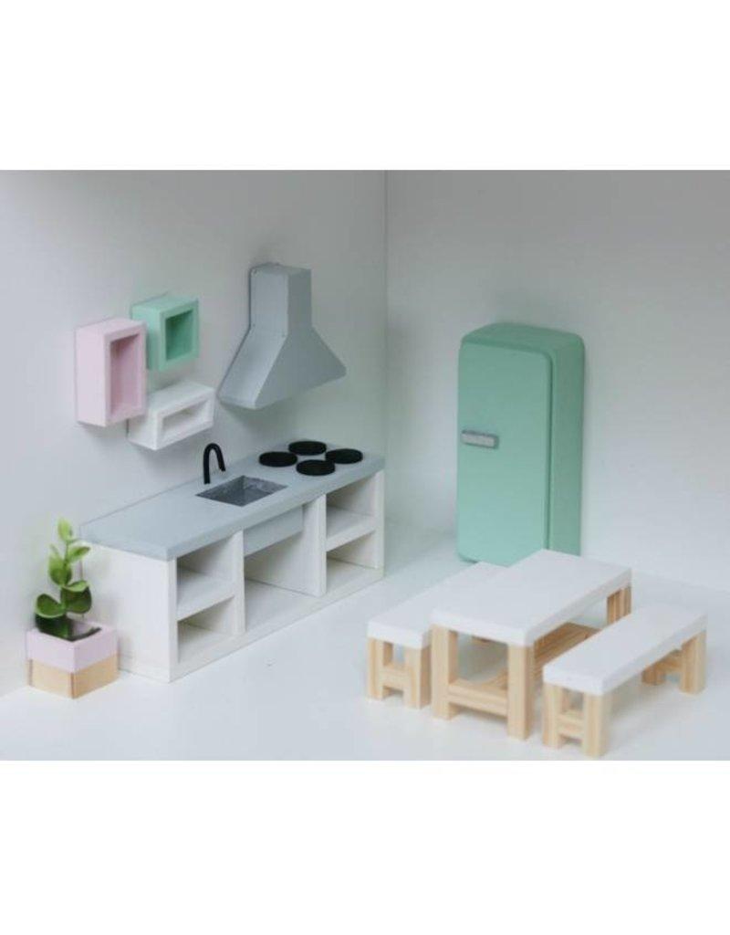 Project Dollhouse Koelkast Oud Roze
