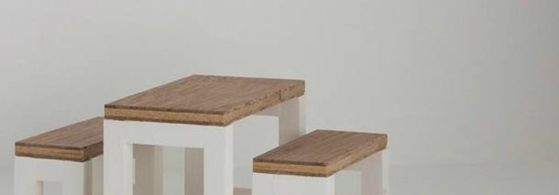 Moderne Eettafel Set Wit Onderstel