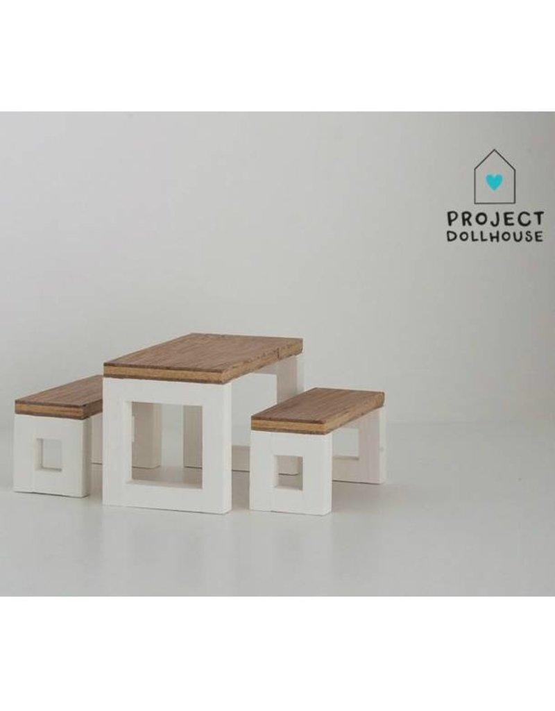 Project Dollhouse Dollhouse Dining Table Set Modern