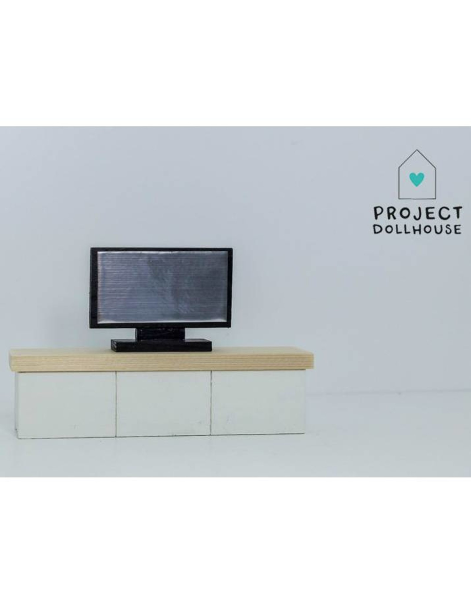Project Dollhouse TV Cabinet White