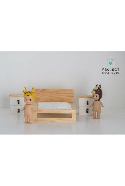 Nachtkastjes Set Wit/Hout