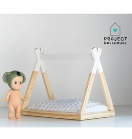 Project Dollhouse Tipi Bed Open Model White