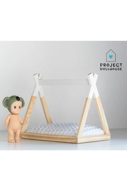 Tipi Bed Open Model White