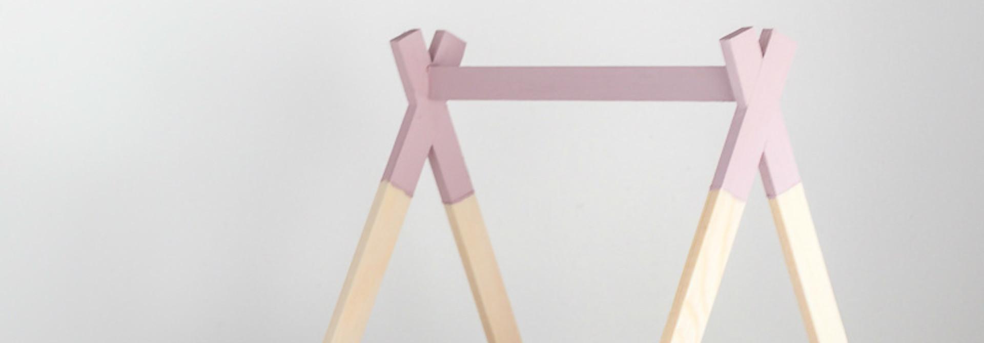 Tipi Bed Open Model Oud Roze