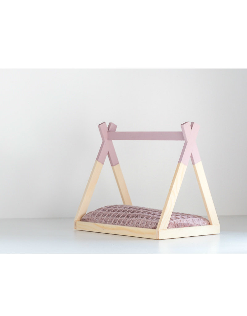 Project Dollhouse Tipi Bed Open Model Old Pink