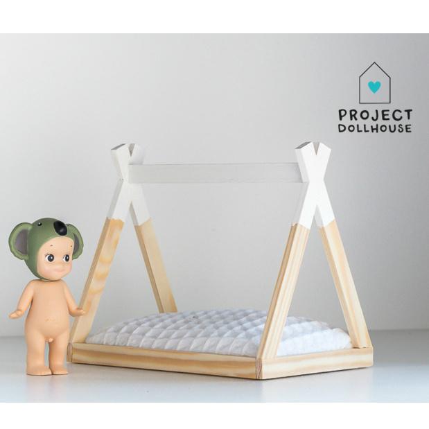 Tipi Bed Open Model Oud Roze-2