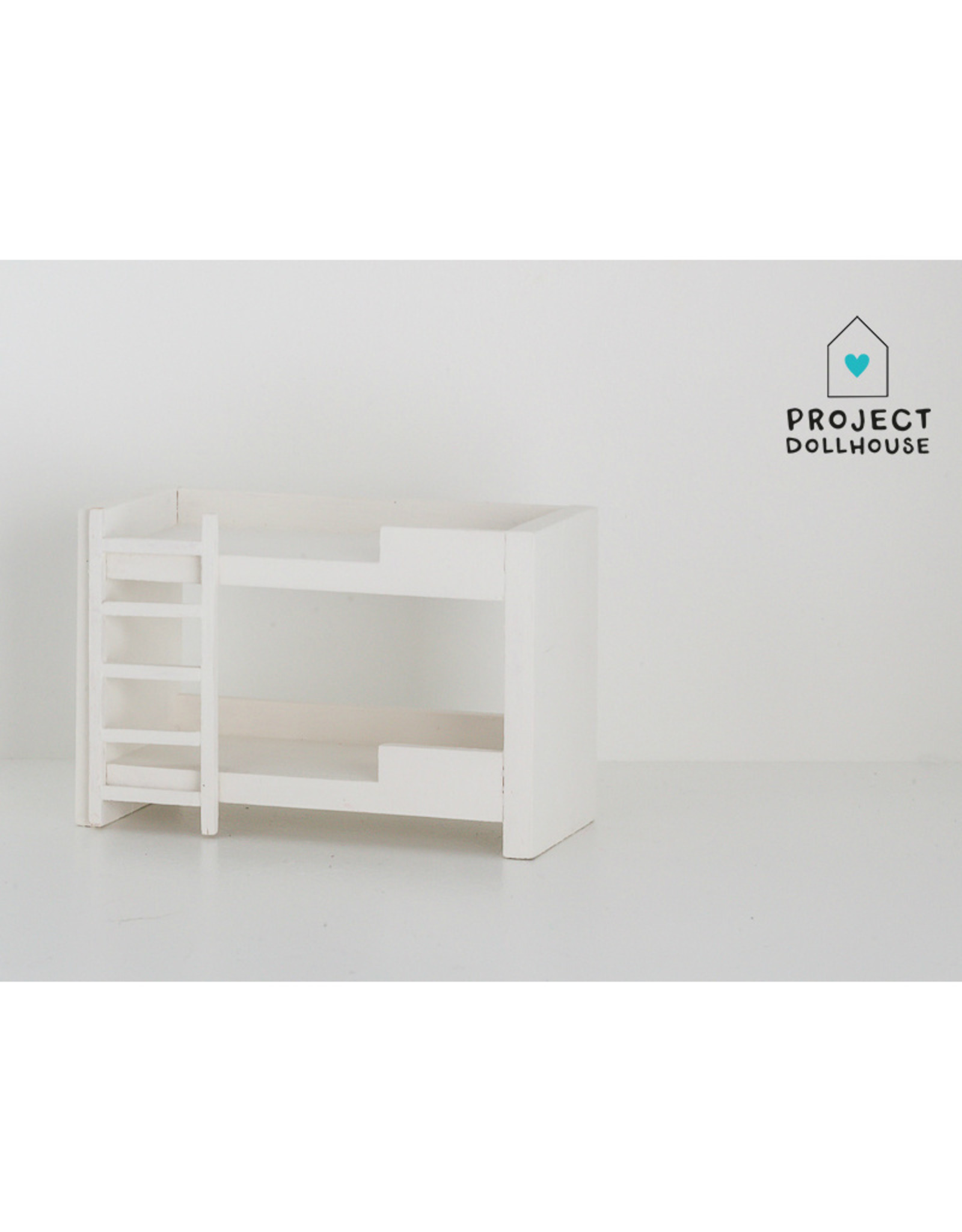 Project Dollhouse Stapelbed Wit