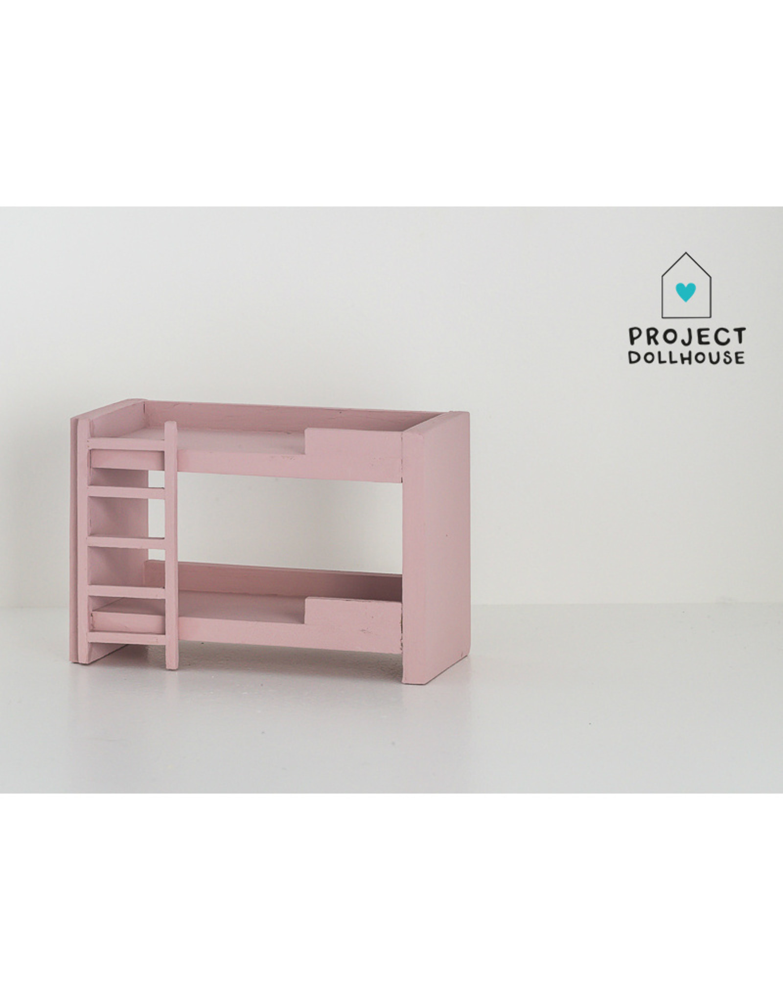Project Dollhouse Stapelbed Oud Roze
