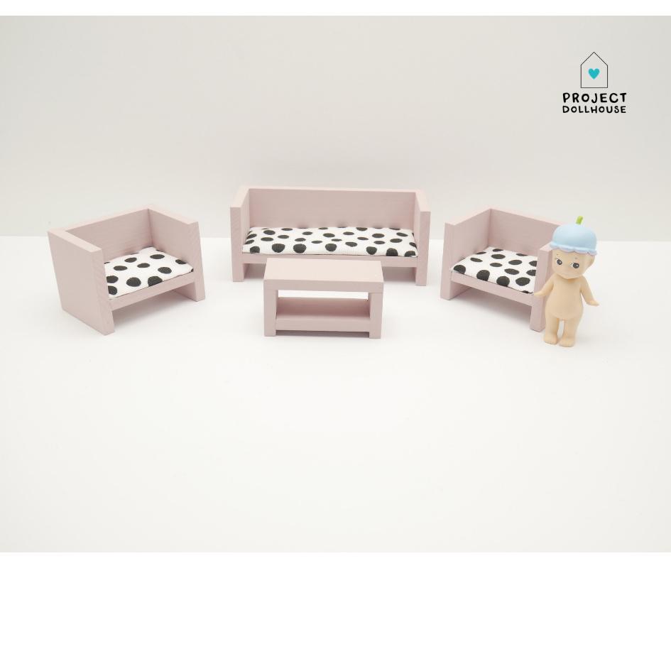 Modern Lounge Set Closed Old Pink-1