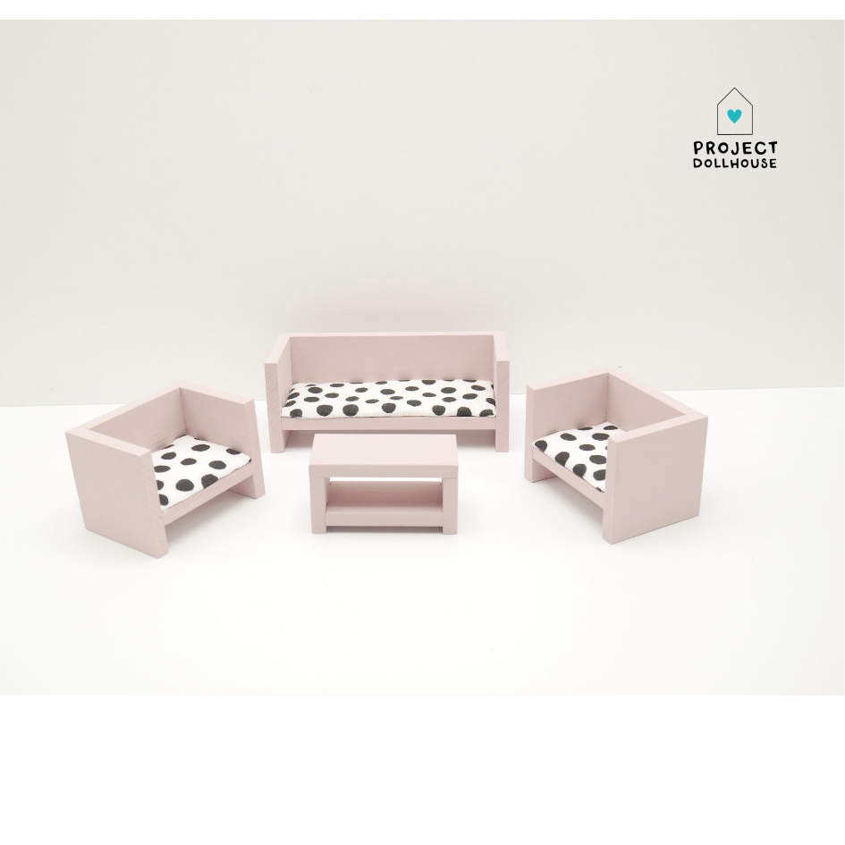 Modern Lounge Set Closed Old Pink-2