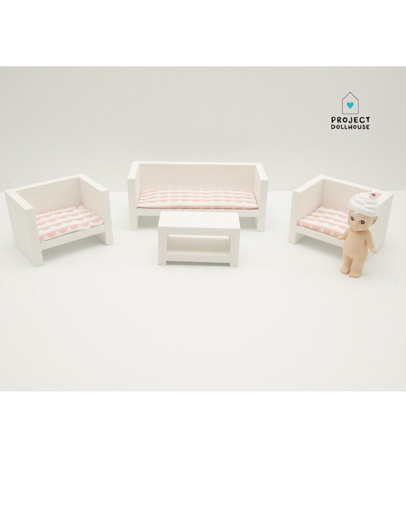 Project Dollhouse Modern Loungeset Closed White