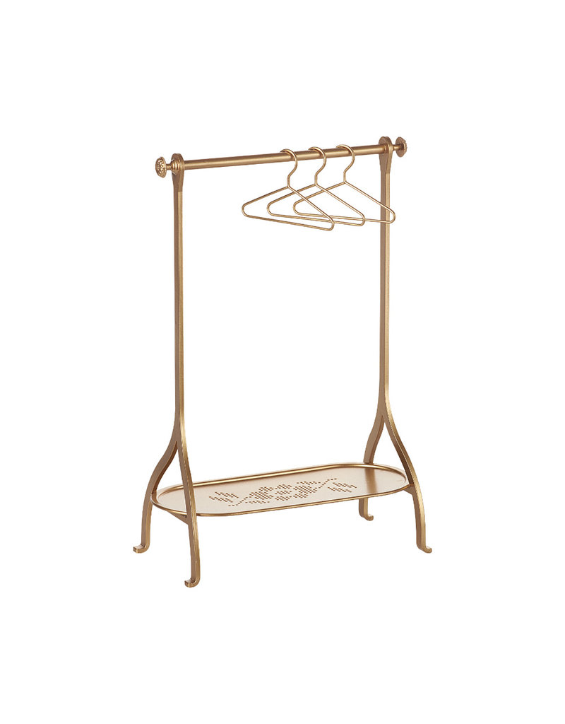 Maileg Clothes Rack Gold incl. 3 Hangers