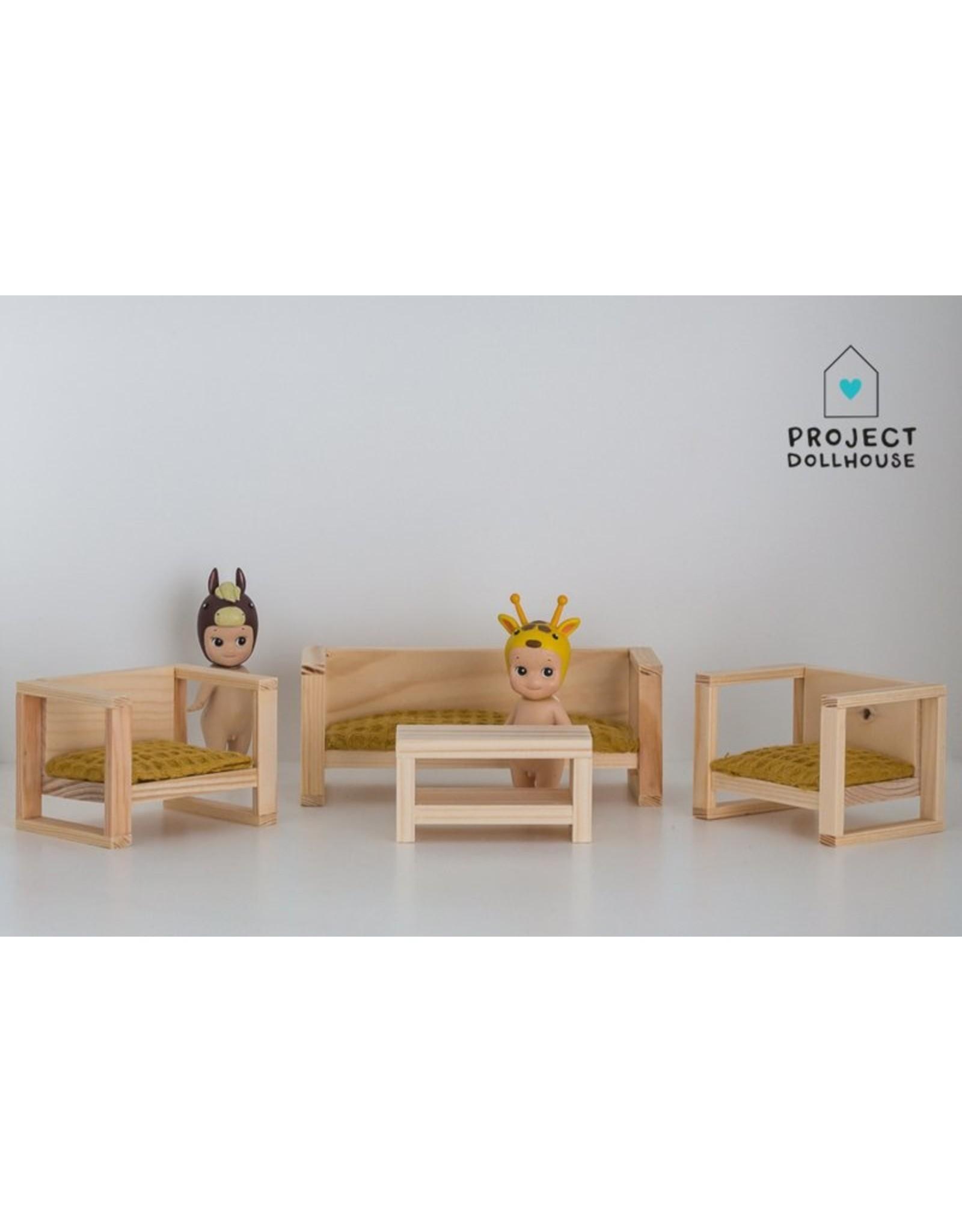 Project Dollhouse Zitkamer Set Hout